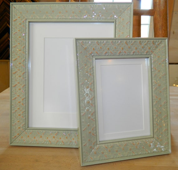 8 X 10 Picture Frame Light Green Wasabi Wood Gloss Etsy