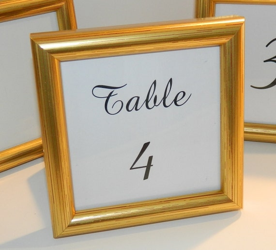 SPECIAL Small Gold Frame for Wedding Table Numbers Party | Etsy