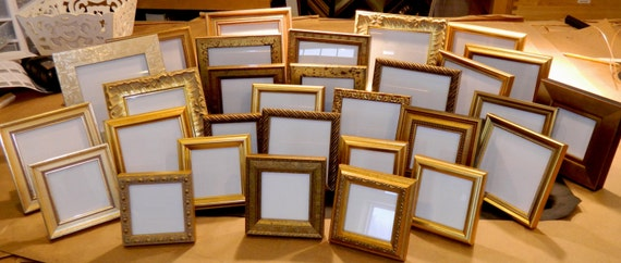 20 Small Gold Frames for Wedding Party Favors Bridesmaids