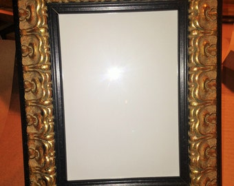Black and Gold Ornate Picture Photo Frame - 5 x 7""
