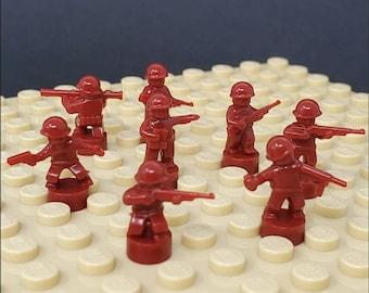 Nano Soldier Figures - Dark Red