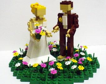 Custom Bride and Groom Wedding Cake Topper