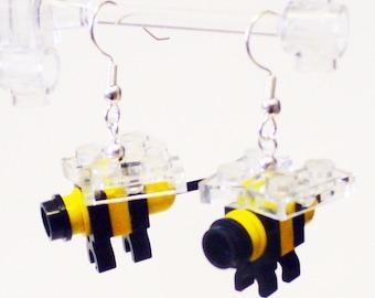 Mini Bumble Bee Dangle Earrings