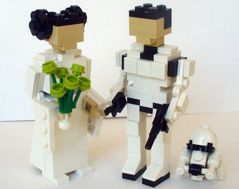 Leia and Han storm trooper Wedding Cake Topper