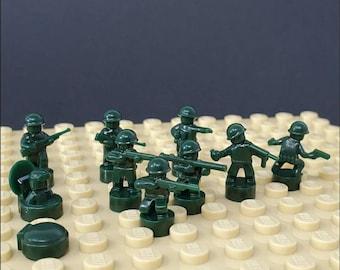 Nano Soldier Figures - Dark Green