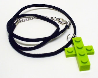 Mini Light Green Cross Pendant and Necklace