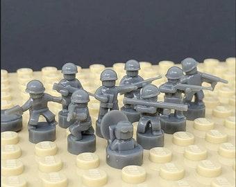 Nano Soldier Figures - Dark Gray / Grey