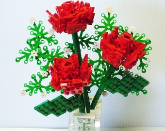 Custom Bouquet of Red Roses and Baby's Breath