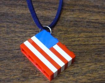Custom American Flag Necklace