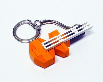 Mini Orange Electric Guitar
