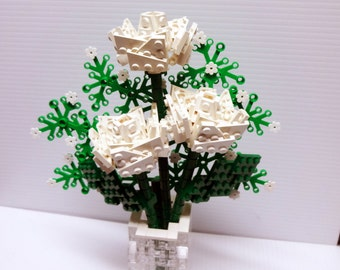 Custom Bouquet of White Roses and Baby's Breath