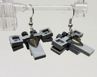 Mini X wing earrings