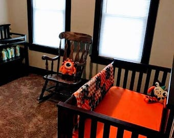 Monsters 3 - 6 Piece Baby Crib Bedding Set MADE TO ORDER