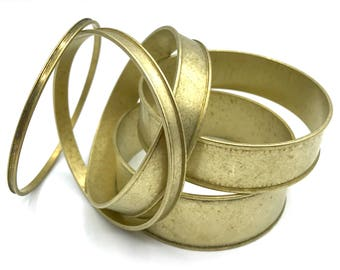 Z Set of 5 Graduated Brass Channel Bracelet Blanks