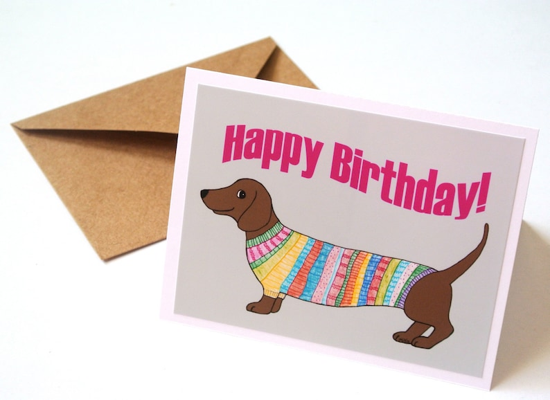 DACHSHUND CHARMING DOG GREETINGS NOTE CARD THREE BEAUTIFUL DOGS AND HEDGEHOG