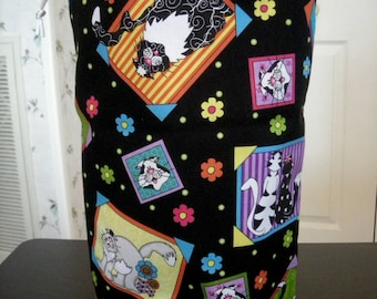 Knitting Project Bag - Tall size  Cats  A - 114