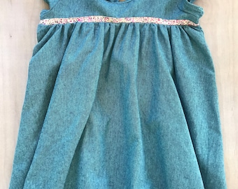 SAMPLE SALE - Stella Dress in Teal - Size 3