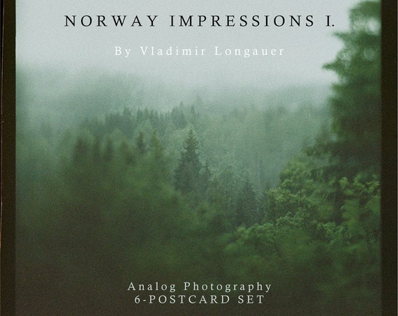 Norway - Impressions I. - 6x large postcard set in a square format