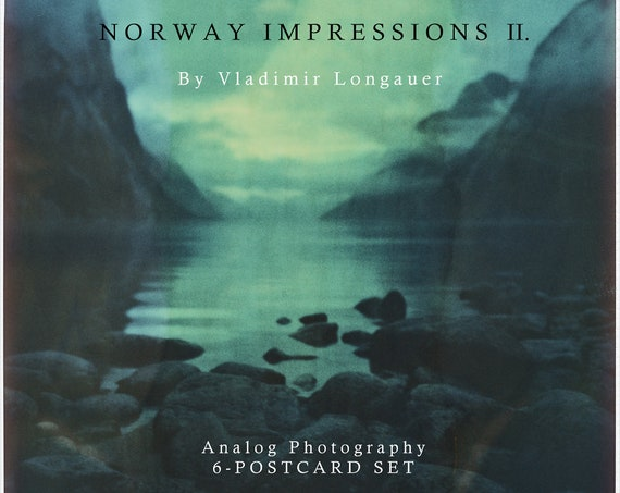 Norway - Impressions II. - 6x large postcard set in a square format