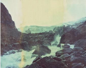 Norway, Old Polaroids, SX70, Polaroid Photography, Glacier, Waterfalls, Rocky, Mountains, Fjord, SX 70, Landscape Photography, Vintage