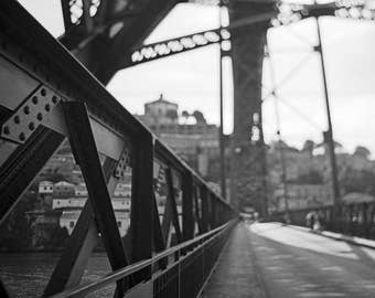 Porto, Street Photography, Bridge, Geometric Photography, Limited Edition, Film, Analog, Square, Cityscape, Small or Large Art, Vintage Art