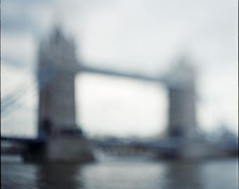 London, Bridge, Abstract, Photography Print, Limited Edition, Film, Analog, Square Format, cityscape, Small or Large scale Art, 30x30, Tower