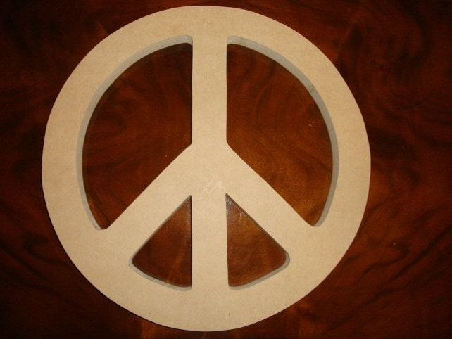 10 Inch Unfinished Mdf Wood Peace Sign Choose Your Thickness Etsy