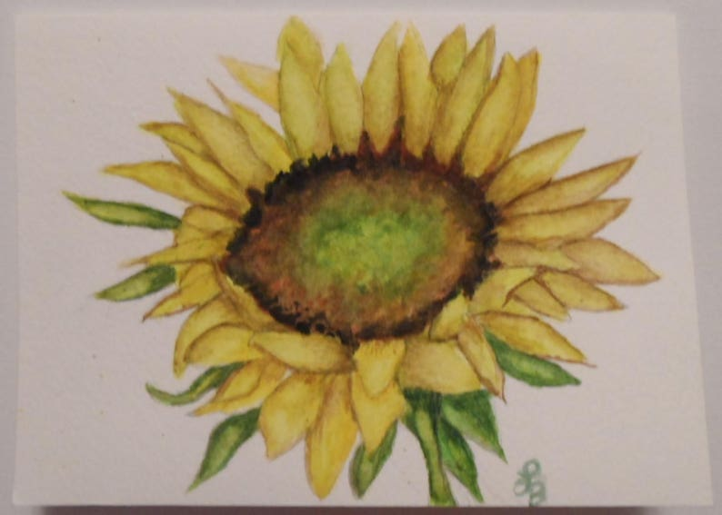 Watercolor Sunflower All Occasion Card Sunflower Gifts Sunflower Blank Greeting Card