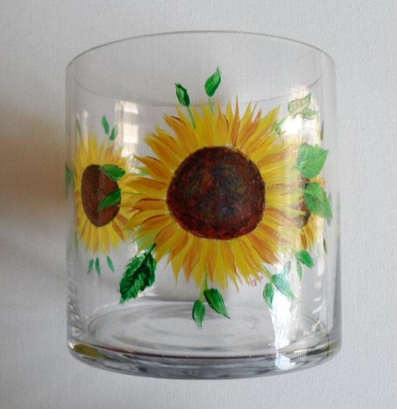 Sunflower Vase Sunflowers Vase Sunflower Decor Glass Vase Etsy