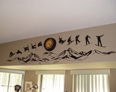 Snowboarding over the Mountains - Series - Vinyl Wall Decals