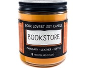 Bookstore Book Lover Candle Book Candle Scent Book Inspired Candle Literary Candle Soy Candle Wax Melt Scented Candle Frostbeard Studio