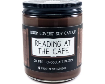 Reading at the Cafe︱Book Lover Candle︱Book Candle Scent︱Book Inspired Candle︱Literary Candle︱Soy Candle︱Wax Melt︱Scented Candle︱Frostbeard