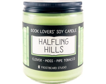 Halfling Hills︱Book Lover Candle︱Book Candle Scent︱Book Inspired Candle︱Literary Candle︱Soy Candle︱Wax Melt︱Scented Candle︱Frostbeard Studio