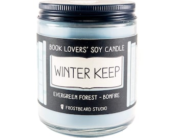 Winter Keep︱Book Lover Candle︱Book Candle Scent︱Book Inspired Candle︱Literary Candle︱Soy Candle︱Wax Melt︱Scented Candle︱Frostbeard Studio