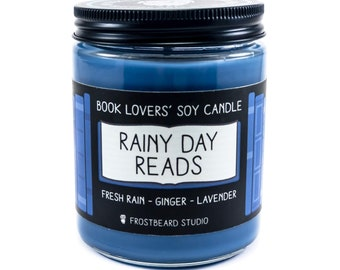 Rainy Day Reads︱Book Lover Candle︱Book Candle Scent︱Book Inspired Candle︱Literary Candle︱Soy Candle︱Wax Melt︱Scented Candle︱Frostbeard