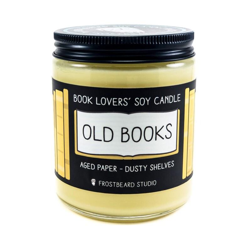 Old BooksBook Lover CandleBook Candle ScentBook Inspired 8 oz Jar