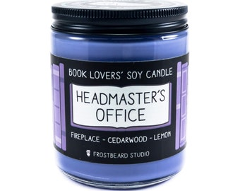 Headmaster's Office︱Book Lover Candle︱Book Candle Scent︱Book Inspired Candle︱Literary Candle︱Soy Candle︱Wax Melt︱Scented Candle︱Frostbeard