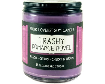 Trashy Romance Novel︱Book Lover Candle︱Book Candle Scent︱Book Inspired Candle︱Literary Candle︱Soy Candle︱Wax Melt︱Scented Candle︱Frostbeard