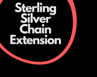Chain Extension for Sterling Silver Chain