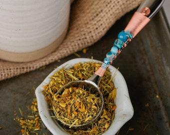 Aqua Tea Scoop - Tea Gifts Gifts for Her - Get Well Gifts