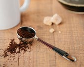 Coffee Scoop - Black and Brown Coffee Scoop - Coffee Pour Over - Coffee Lover Gifts - Gifts Under 30