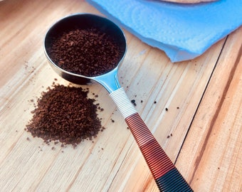 Coffee Scoop - Brown Ombre Scoop - Coffee Scale - Coffee Gifts - Boho Kitchen Decor