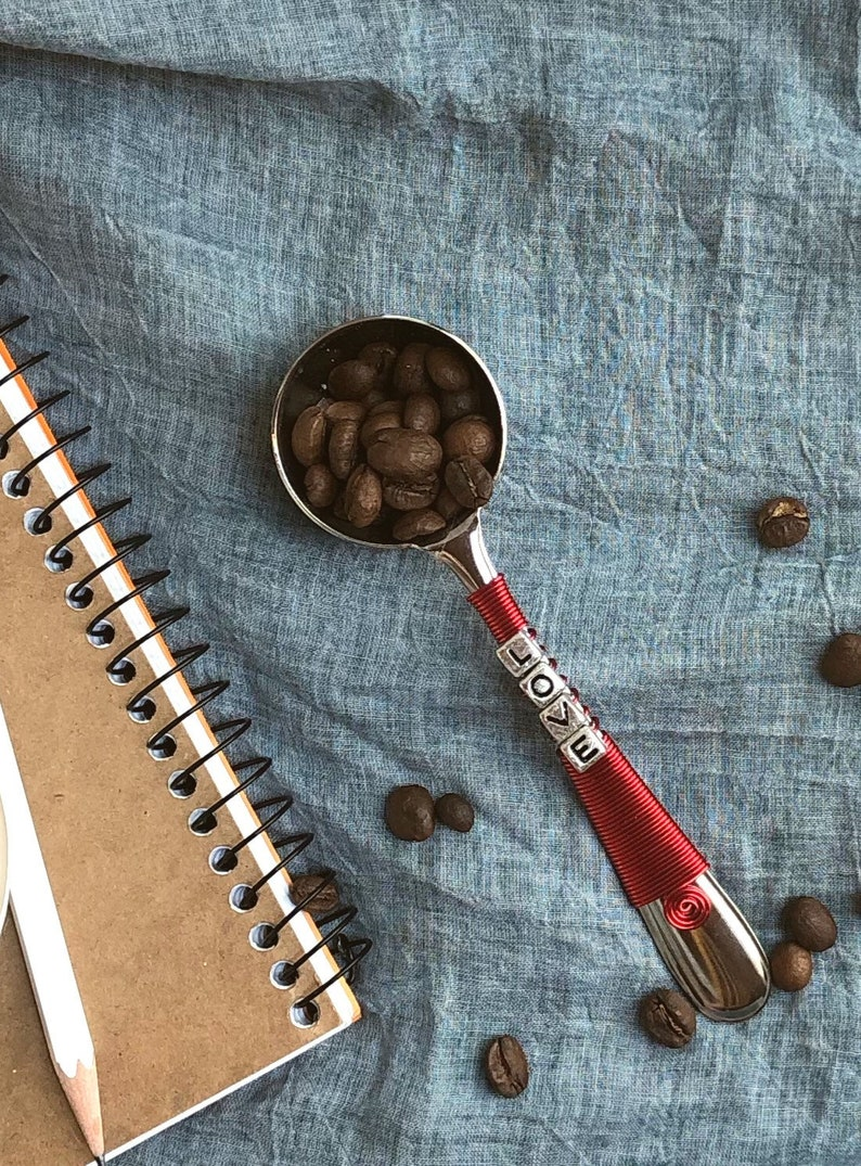 Love Coffee Scoop  Custom Gift  Coffee Lover Gift  Pour image 0