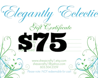 Last Minute Gift - Gift Certificate - Instant Download Gift -  Last Minute Gift - Instant Gifts - Instant Download Gift - E Gift Card