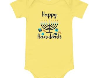 7 ate 9 Apparel Babys Dreidel Hanukkah Hoodie