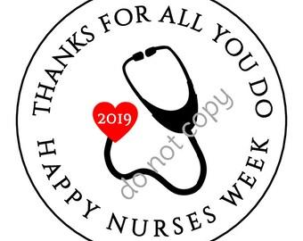 INSTANT DOWNLOAD Nurse Appreciation Week Gift Nurses rn