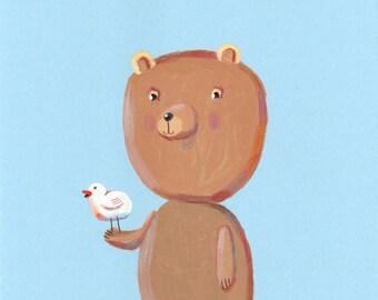 little bear   print
