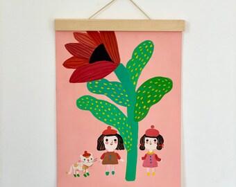 3 friends, original illustration