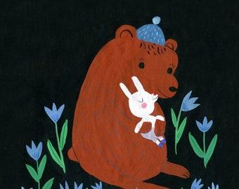 Sweet dreams little bunny print