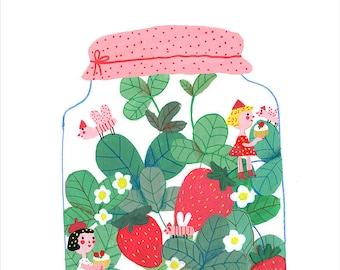 Strawberry jam  original illustration